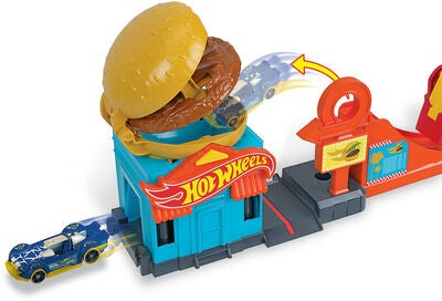 Hot Wheels City Spielset Downtown Burger Dash