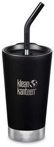 Klean Kanteen Insulated Tumbler Mit Trinkhalmdeckel 473ml, Shale Black
