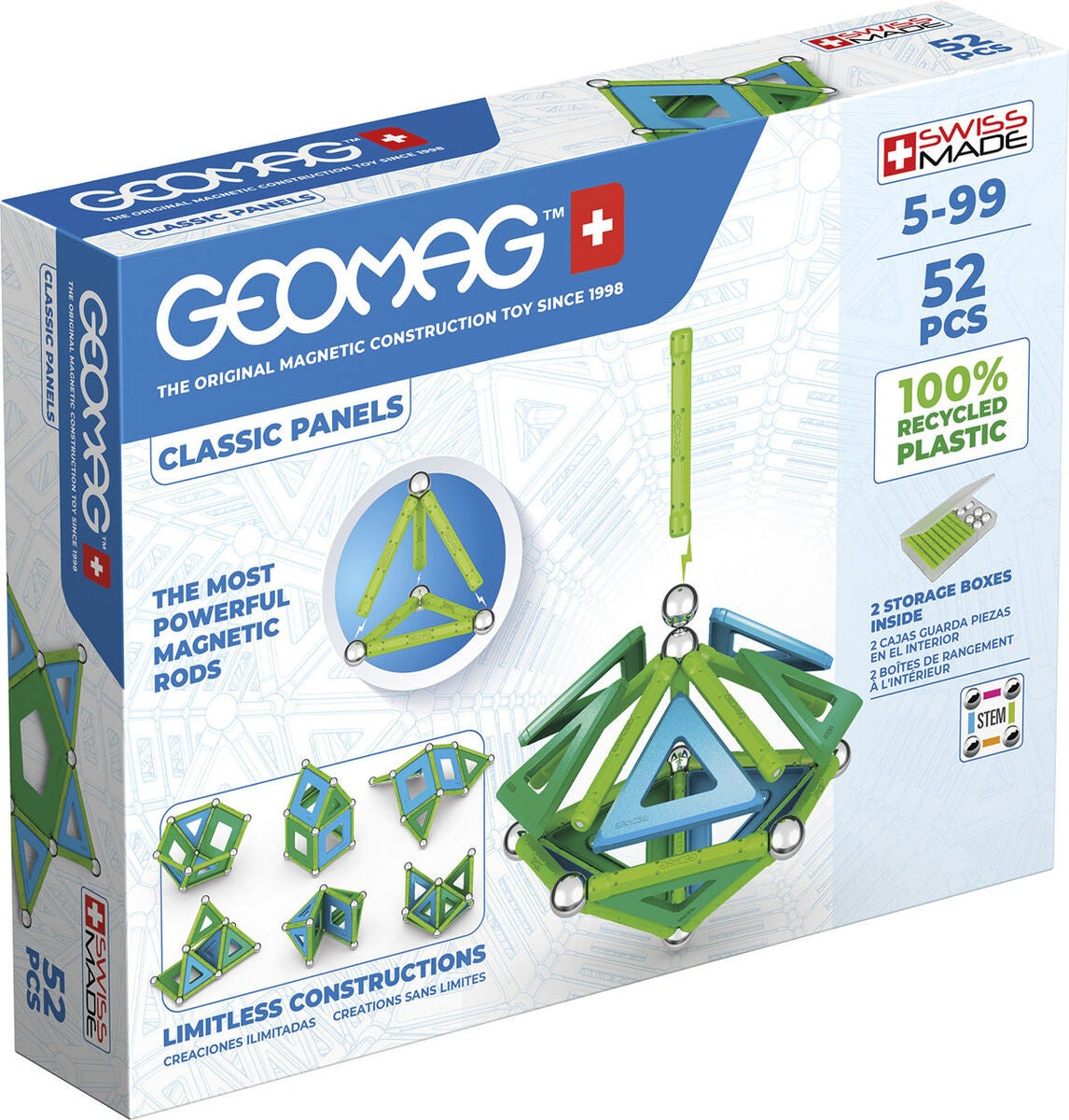 Geomag Bausatz Classic Panels Green Line 52