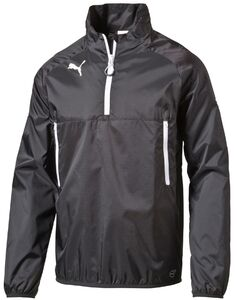 Puma Team Windbreaker Windjacke, Schwarz