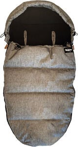 The Buppa Brand Winter Fußsack, Grey Melange