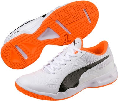 Kaufen Sie Authentic Bestbewertet authentisch online zu verkaufen Puma ONE 4 Syn IT V Fußballschuhe JR, Silver/Orange