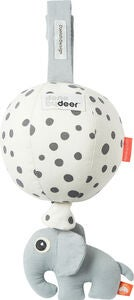 Done By Deer Spieldose Ballon Happy Dots, White/Black