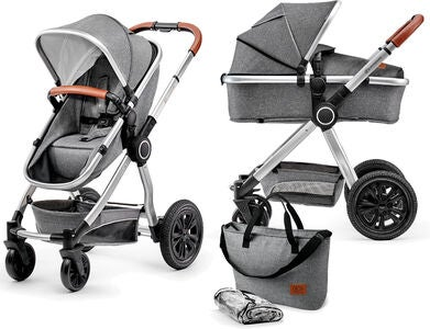 Kinderkraft Multipurpose 2-in-1 Veo Kombikinderwagen, Grey