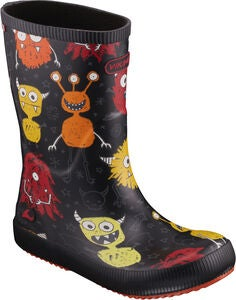Viking Classic Indie Monsters Gummistiefel, Black/Orange