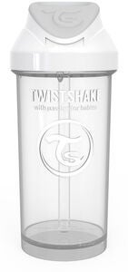 Twistshake Trinkhalmbecher 360ml, Weiß