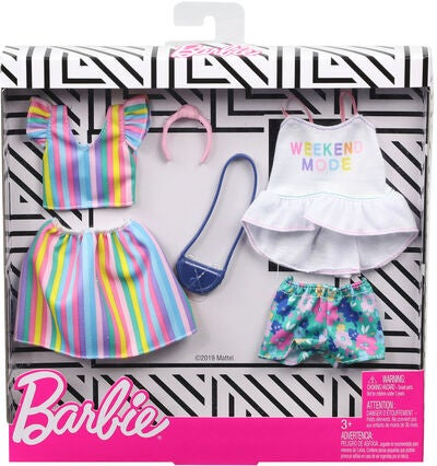 Barbie Fashions Kleider Rainbow & Floral