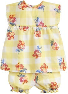 Tom Joule Oberteil & Shorts, Yellow Gingham Floral