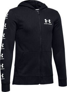 Under Armour Rival Full Zip Hoodie, Black