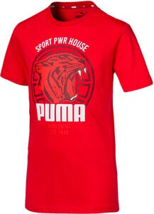 Puma Alpha Graphic T-Shirt, Red