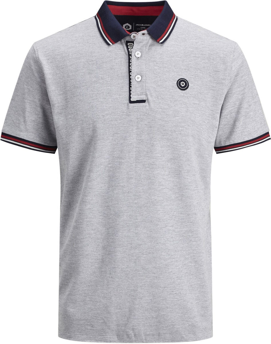 Jack & Jones Challenge Polohemd, Light Grey Melange
