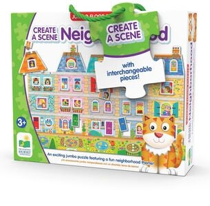 The Learning Journey Puzzle Create A Scene My Neighborhood