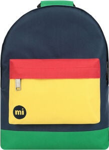 Mi-Pac Mini Colour Block Rucksack, Navy/Pastel Yellow