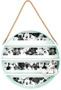 Disney Mickey Maus rundes Wandregal, Mint/White