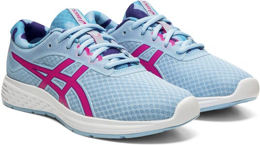 Asics Patriot 11 GS SP Sneaker, Heritage Blue/Pink Glo