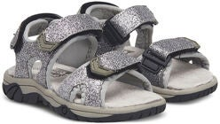 Little Champs Race Glitter Sandalen, Silver