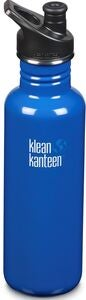 Klean Kanteen Classic Sports Cap Trinkflasche 800ml, Costal Waters