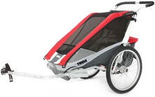 Thule Chariot Cougar 2 Red 2014 inkl. Fahrradkit