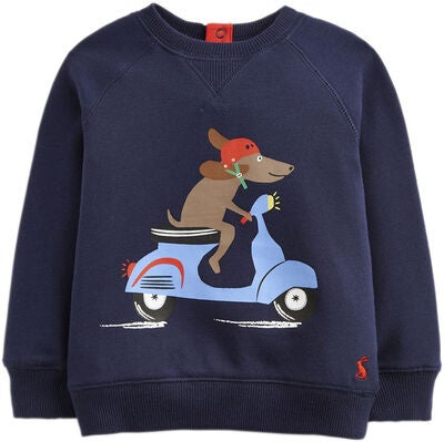 Tom Joule Pullover, Navy Scooter Dog