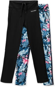 Hyperfied Track Tights 2er Pack, Black/Tropical Flower