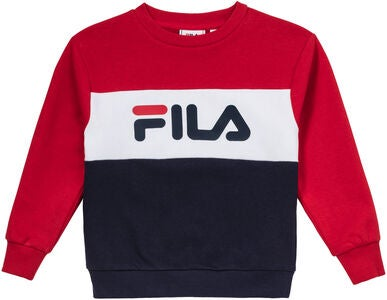 FILA Night Blocked Crew Pullover, Black Iris