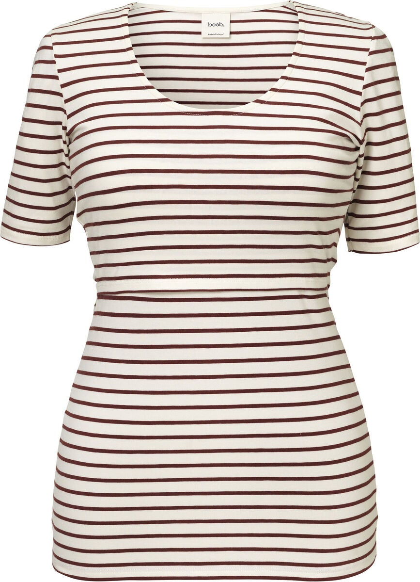 Boob Simone T-Shirt, Tofu/Port Red