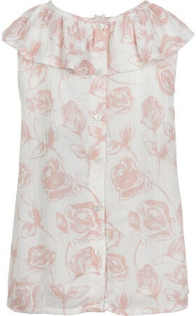 Creamie Roses Bluse, Cloud