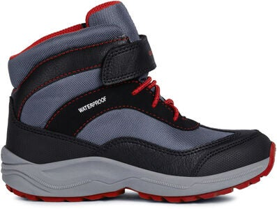 Geox New Alaska WPF Winterstiefel, Black/Red