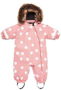 Petite Chérie Amour Winteroverall, Dots Dusty Rose