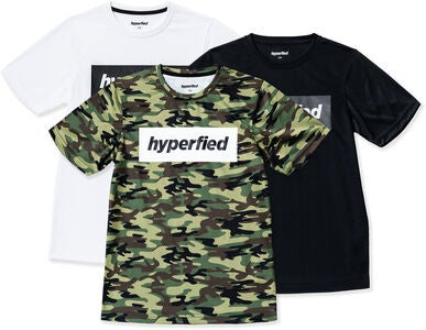 Hyperfied Edge T-Shirt 3er Pack, Black/White/Camo Green