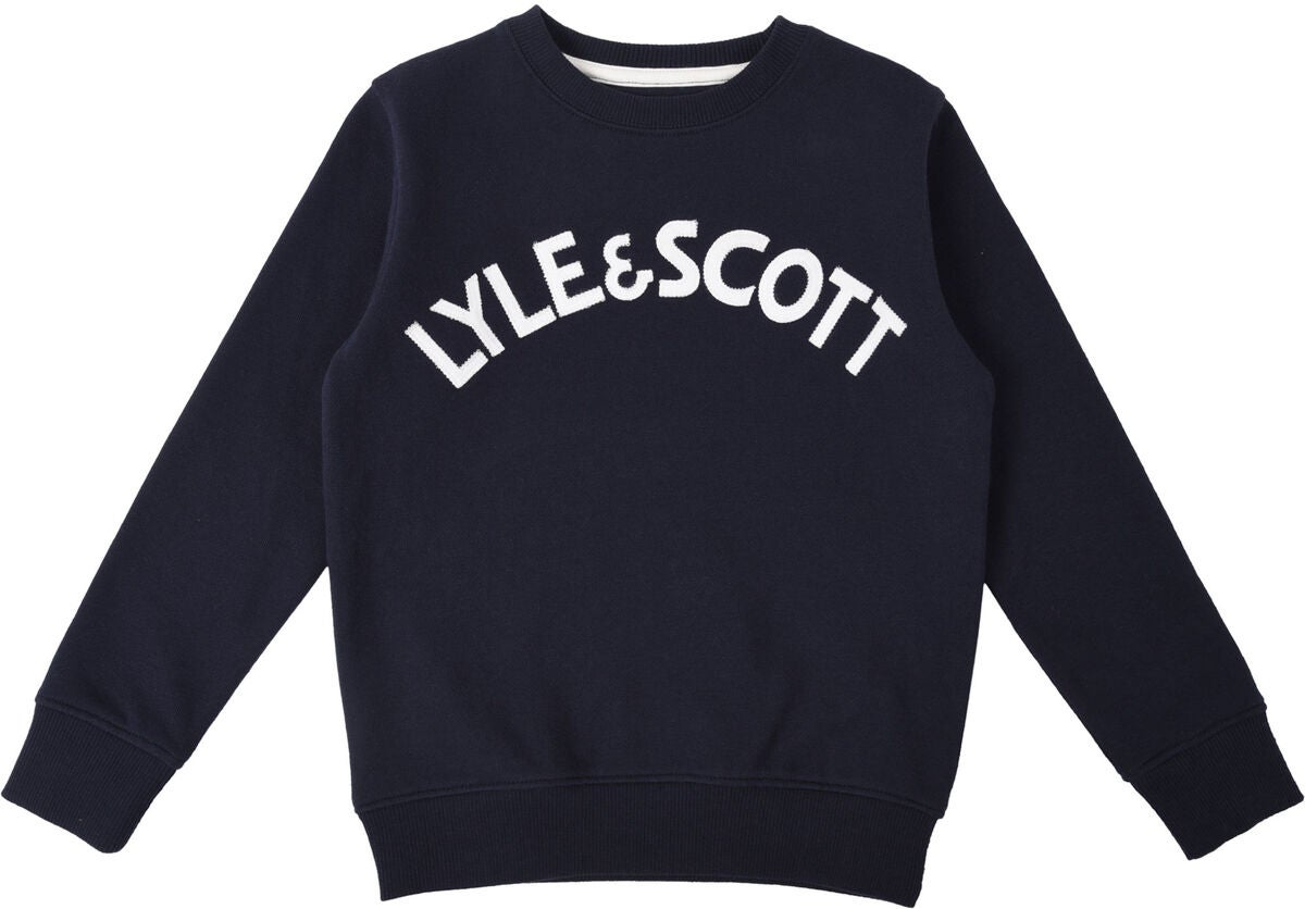 Lyle & Scott Junior Crew Neck Pullover, Navy Blazer