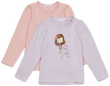 Luca & Lola Manuela Top 2er-Pack, Purple/Pink
