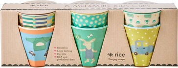 Rice Becher Bunny Melamin 6er-Pack, Green