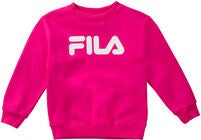 FILA Kids Classic Logo Crew Pullover, Pink