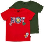 Luca & Lola San Marino T-Shirt 2er-Pack, Red/Army Green