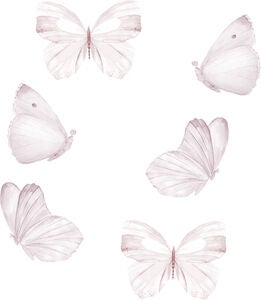 That's Mine Wallsticker Butterfly 6er-Pack, White