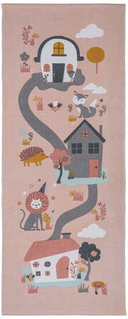 Alice & Fox Teppich Houses, Pink