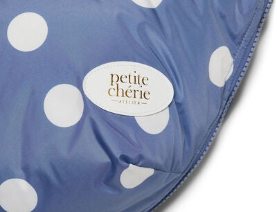 Petite Chérie Big Dots Fußsack, Country Blue