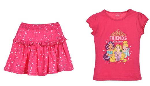 Disney Princess T-Shirt & Rock, Fushia
