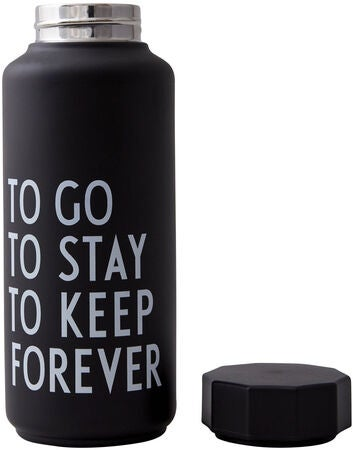 Design Letters Thermosflasche Special Edition, Black