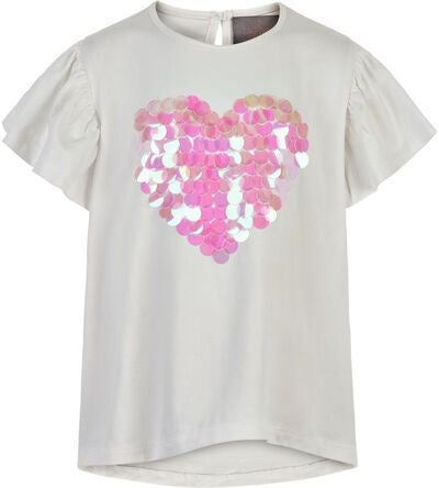 Creamie Big Sequins T-Shirt, Cloud