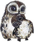 That's Mine Wallsticker Love Owls