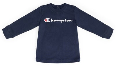 Champion Kids Langarmshirt Crewneck, Black Iris