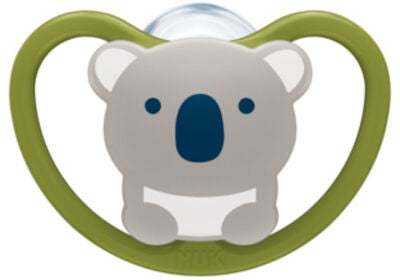 NUK Space 0–6 Monate Nuckel 2er Pack, Koala/Tiger
