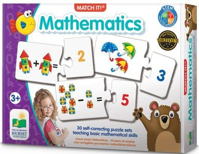 The Learning Journey Puzzle Match It Mathematics