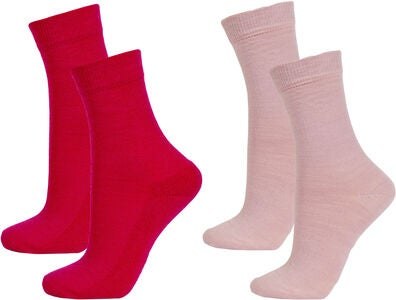 Janus Strumpfhose Wolle 2er Pack, Rose Red/Deuville Mauve