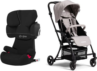 Cybex Solution X2-Fix Silver Line Reisepaket Moweo Turn Light Buggy, Grey
