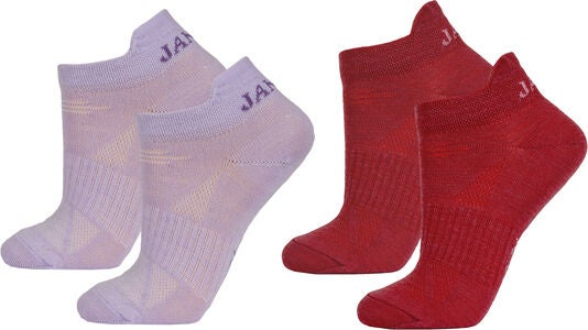 Janus Lightwool Sportsocken 2er Pack, Purple Cadet/American Beauty