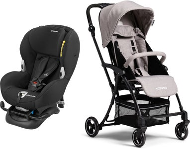 Maxi-Cosi Mobi XP, Night Black Reisepaket Moweo Turn Light Buggy, Grey