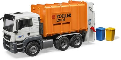Bruder Man TGS Müll-LKW, Orange